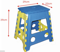 Plastic Folding Stool Super Strong Foldable Step Stool for Adults and Kids