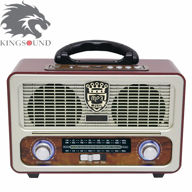 Hot Selling Big Black M-U111 Retro Style Radio For Home