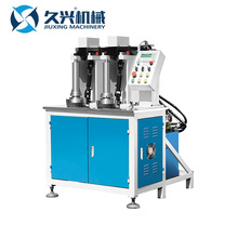 High efficiency vertical double station hydraulic rolling bolt threading machine
