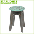 MDF wood round shape armless chair