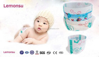 Disposable baby diaper with PE film made in imported machine