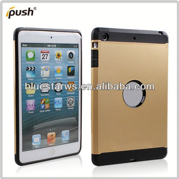 PC + TPU cover for ipad mini Crystal Case Cover For ipad Mini,PC+TPU Transparent Case For ipad mini