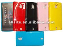 Solid Color TPU Gel Protective Case For Sony MT27i Xperia Sola