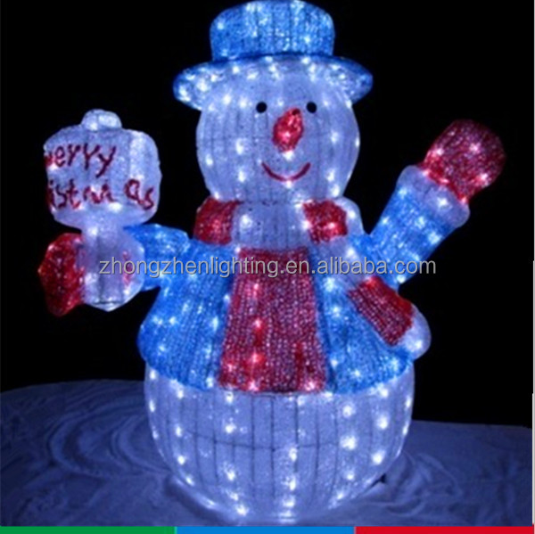 Lighted animated snowman with top hat outdoor christmas for Animated snowman decoration