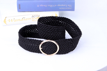 Black reticulation fashion ladies' wide woven belts