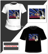 Sound controlled hot sell el t-shirt / led glowing up tshirt / EL equalizer t-shirt