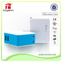 2-IN-1 USB Wall Charger 3500mAh Power Bank For All iPhone/iPad/Galaxy/Smartphones/Tablets
