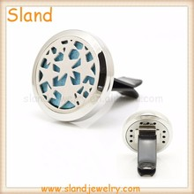Fashion Accessories 2017 high quality 316L Stainless Steel Car Diffuser Perfume Locket with Clip for air conditioner Vent