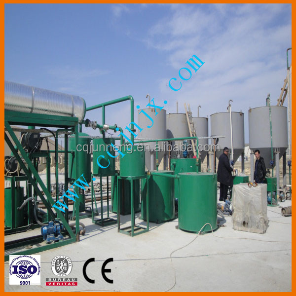 waste oil distillery used engine oil recycling black oil bleaching machine