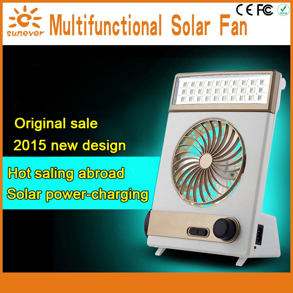High quality portable Outdoor traveling solar charger mini fan