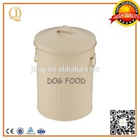 metal pet storage box dog food pet food container bin with silk screen logo