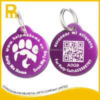 Wholesale Aluminum Laser Engraving Readable Qr Code Pet Tags / Qr Code Dog Tags