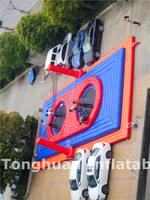Crazy fun! Inflatable bossa-ball court, inflatable human bossa-ball sports game