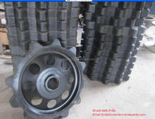 Rubber track and sprocket for Hanglund BV206 all-terrain vehicle