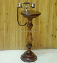 Wooden Home Decor Vintage Antique Wood Telephone Stand