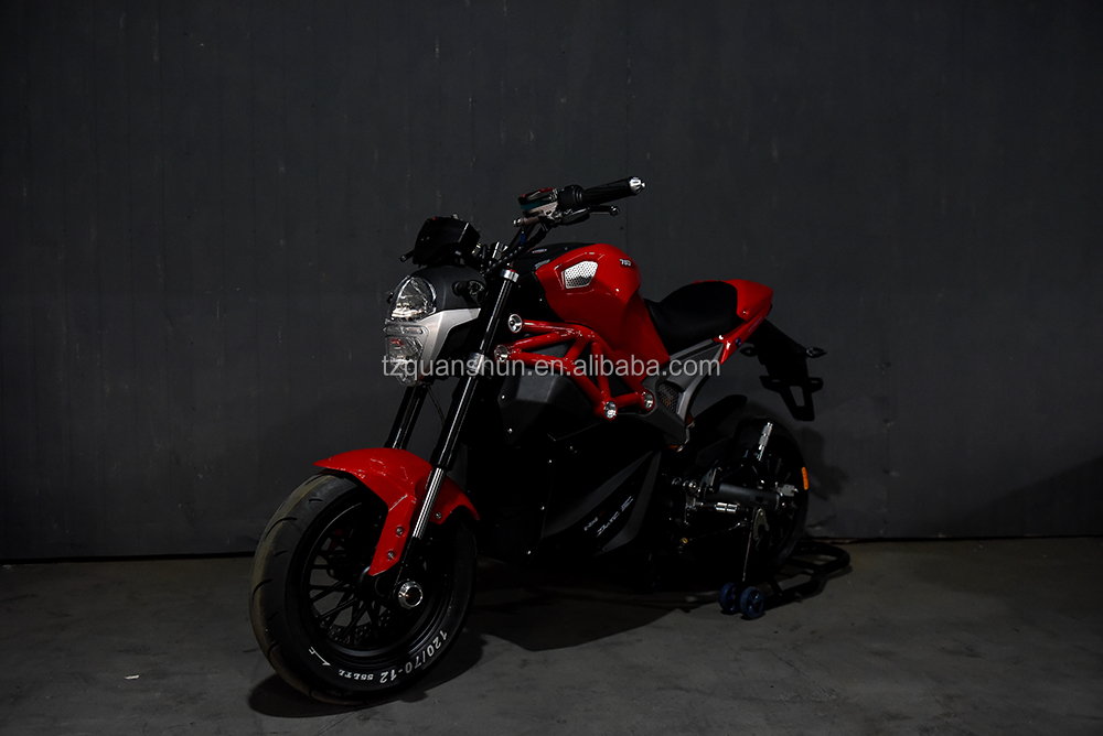 Little Monsters 2000w hub motor 75KPH 72v electric bike motorcycle with wide tires for sale