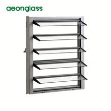 bathroom aluminium framed glass louver window glass