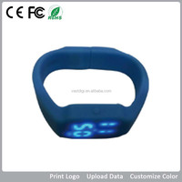 silicon bracelet usb flash drive with custom logo for promotional gift