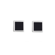 GI8-007 cool enamel stud earrings hot selling real 925 silver fashion jewelry cheap wholesale
