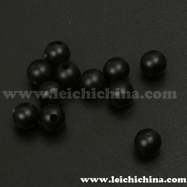 Carp fishing tackle terminal round soft rubber beads