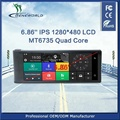 Portable and Dashboard 4G 6.86'' IPS 1280*480 GPS with DVR private tooling exclusive distributor supported