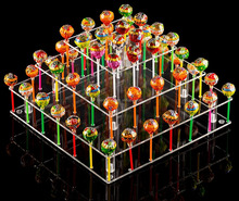 Clear Acrylic Cake Pop Stand (Square (9 Rods))