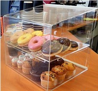 Clear Acrylic Cupcake Display Cabinet