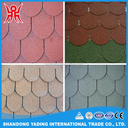 Building materials red asphalt roofing shingle