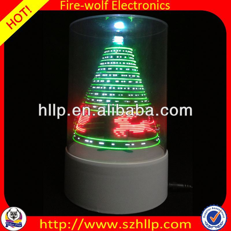 2014 hot sale wholesale led 3D usb custom made christmas trees manufacture