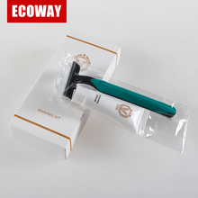 plastic handle one time disposable razor for hotel use travel shaving kit