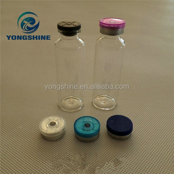 Cork Neck Penicillin Glass Bottle For Syrup Clear with Aluminimun Lid