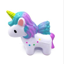 Galaxy Color Unicorn Horse Squishy Slow Rising Jumbo Kawaii Toy