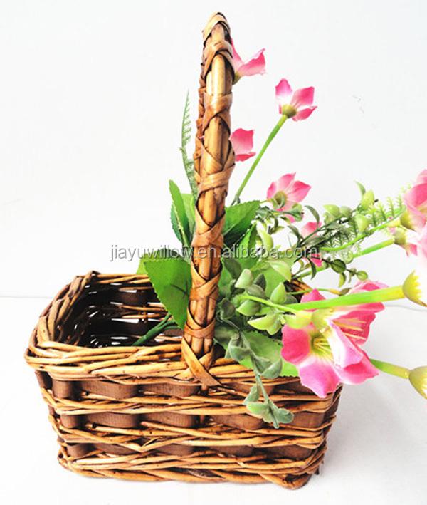 Flower Baskets Decoration : Natural flower girl basket indian wedding decorati