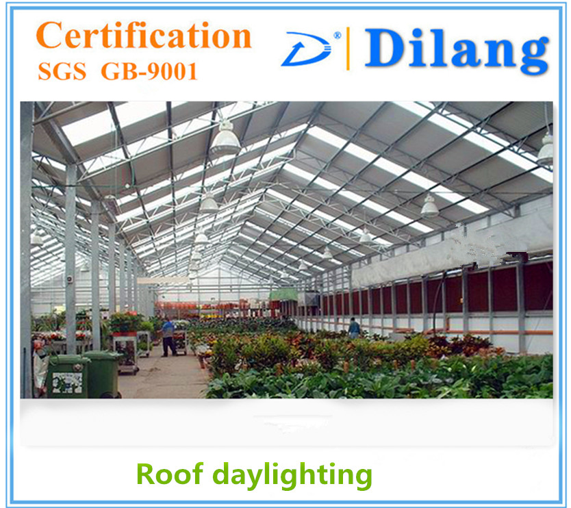 Roof daylighting uv treated polycarbonate corrugated sheet as roof panel