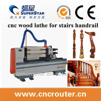 China high quality 2 spindles stairs handrail cnc wood lathe