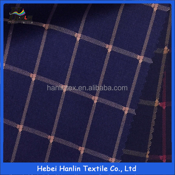 hot sale TR 55/45 plaid fabric/26s 170gsm TR yarn dyed stripe fabric