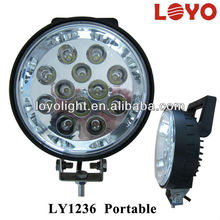 "portable led work light with switch on/off 6"" 36W led truck light, work lamps"