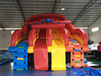 HOT!!! Kids Joy Inflatable Double Slides Stair for sale