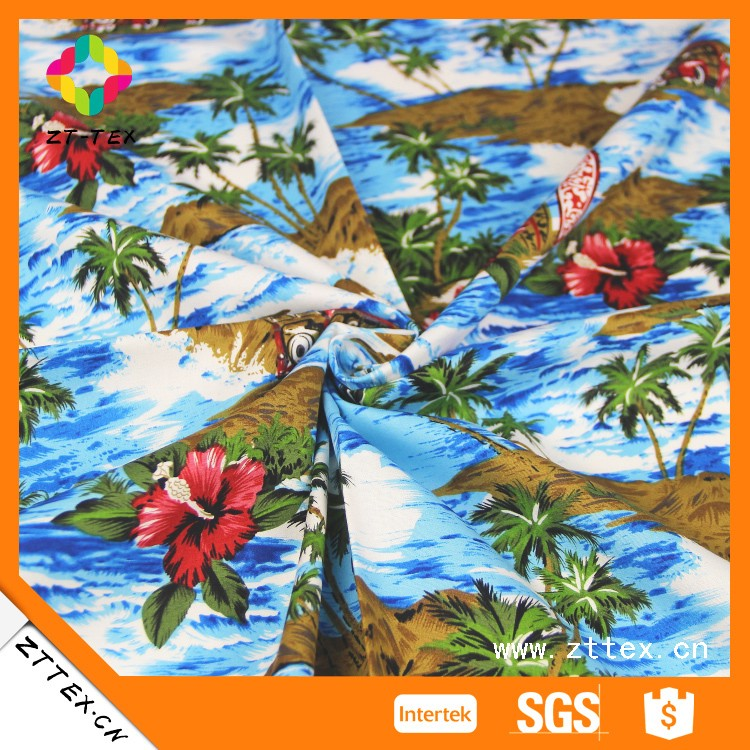 Custom Various colors hawaii style printed fabric