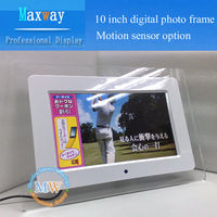 Acrylic frame 10 inch led digital picture frame