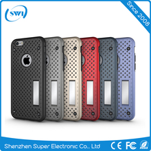 2017 Armor style mesh combo case for iphone 6 plus
