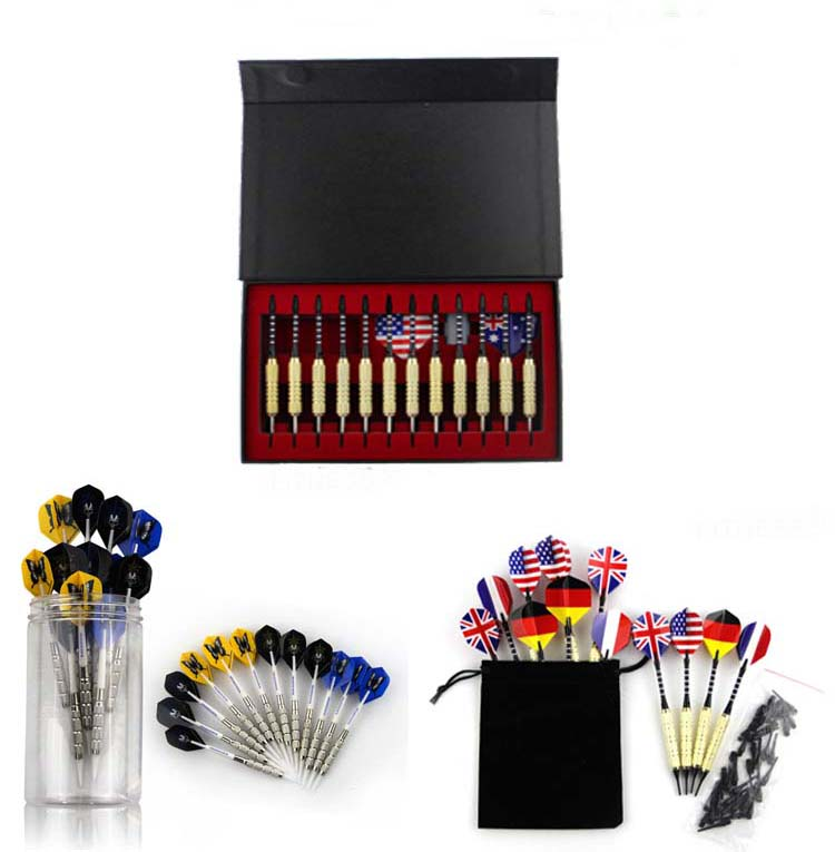 Brass dart set with black coating for 12pcs/pack