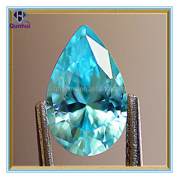 Fabulous Blue Topaz Pear shaped cubic zirconia