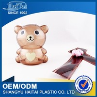 Clear plastic coin bank large plastic piggy bank
