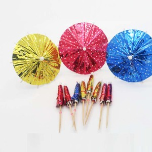 Popular Custom Print Cocktail Picks Party Drink Umbrella Picks