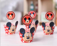 Micky Mouse Kids Party Favor paper cupcake wrappers & toppers picks wedding accessories Decoration