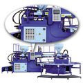 STRONG ROTARY TYPE PVC AIR BLOWING MIX COLORS INJECTION MOULDING MACHINE