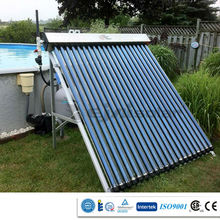 Pressure vacuum tube solar collector and solar water heater system