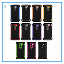 2 in1 design high quality shockproof heavy duty case cover for lg g2 phone case, for lg g2 cellular accessories