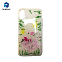 Fashion Design 3D Liquid Rubber Duck Swimming Floating Hard Phone Case For iPhone X
